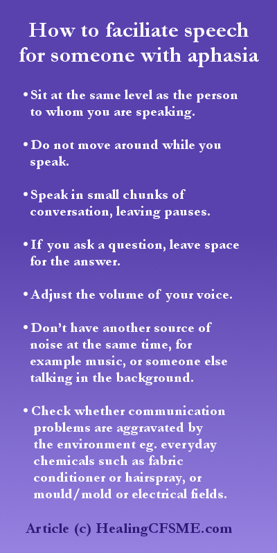 How to help someone with speech issues due to ME/CFS