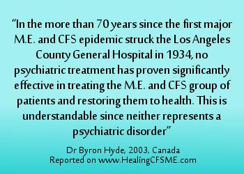 CFSME is not psychological