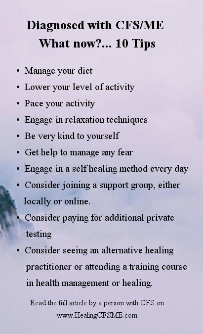 chronic fatigue syndrome advice