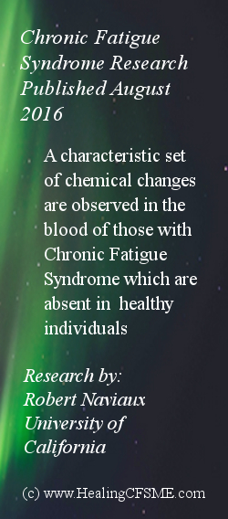 Research into the illness ME also known as Chronic Fatigue Syndrome