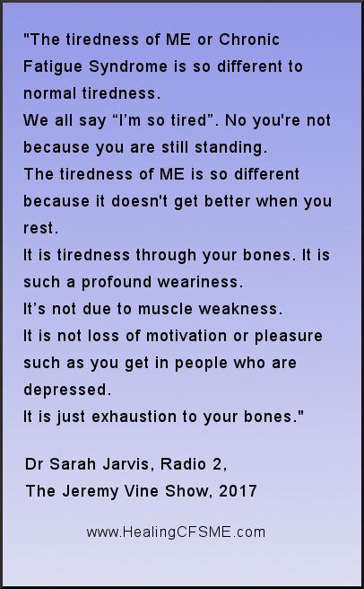 doctor quote about myalgic encephalomyelitis and chronic fatigue syndrome