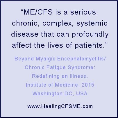 IOM definition of Chronic Fatigue Syndrome, Myalgic Encephalomyelitis, renamed as SEID