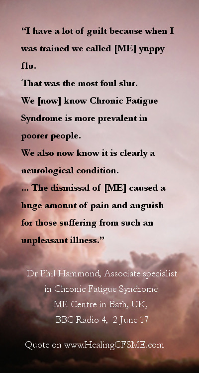 ME illness doctor quote