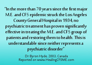 CFSME is not psychological