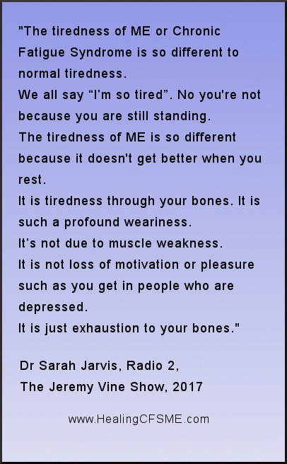 doctor quote about myalgic encephalomyelitis and chronic fatigue syndrome